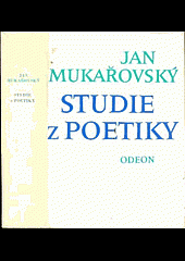 Studie z poetiky obálka knihy