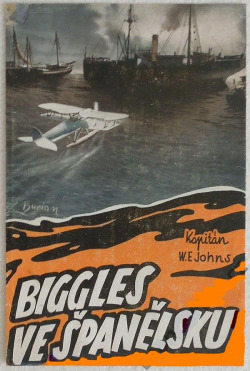 Biggles ve Španělsku obálka knihy