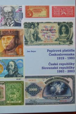 Papírová platidla Československa 1919-1993, České republiky, Slovenské republiky 1993-2003 obálka knihy