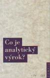 Co je analytický výrok?