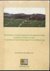 Metodika studie širších územních vazeb ochrany půdy a vody v komplexních pozemkových úpravách obálka knihy