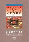 Dějiny zemí Koruny české v datech – Dodatky obálka knihy