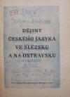 Dějiny českého jazyka ve Slezsku a na Ostravsku