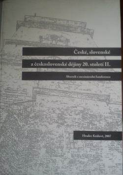 České, slovenské a československé dějiny 20. století II.