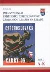 Jmenný seznam příslušníků československé zahraniční armády na Západě I