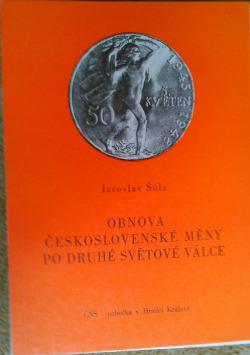 Obnova československé měny po druhé světové válce obálka knihy