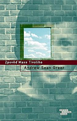 Zpověď Maxe Tivoliho obálka knihy