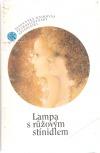 Lampa s růžovým stínidlem