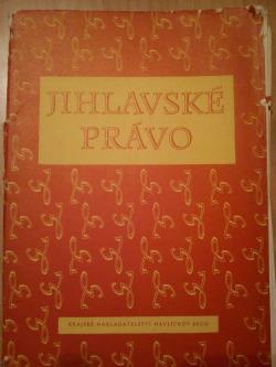 Jihlavské právo obálka knihy