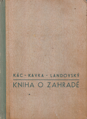 Kniha o zahradě obálka knihy
