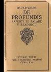De Profundis: zápisky ze žaláře v Readingu