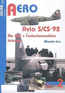 Avia S/CS-92 - Me 262 v Československém letectvu obálka knihy