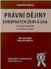 Právní dějiny evropských zemí a USA obálka knihy