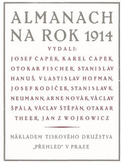 Almanach na rok 1914 obálka knihy