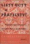 Listy úcty a přátelství J. Pekař - J. Goll