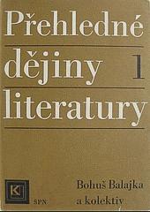 Přehledné dějiny literatury I obálka knihy