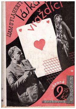 Láska vraždící obálka knihy