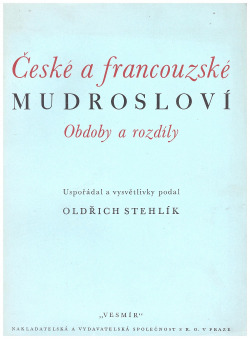České a francouzské mudrosloví obálka knihy