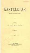 Kanteletar - finská národní lyrika. Sv. 2