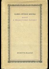 Básně a dramatické zlomky obálka knihy