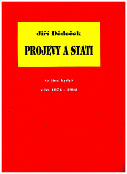 Projevy a stati obálka knihy