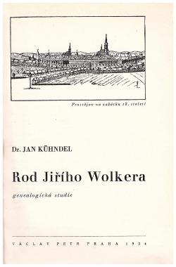 Rod Jiřího Wolkera obálka knihy