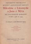 Promoční promluvy Mikuláše z Litomyšle