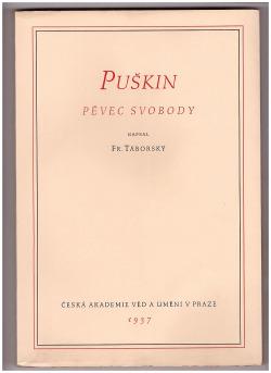 Puškin, pěvec svobody obálka knihy