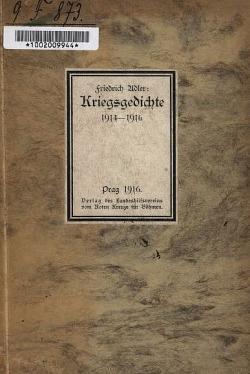 Kriegsgedichte 1914-1916 obálka knihy
