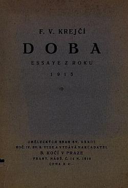Doba: essaye z roku 1915 obálka knihy