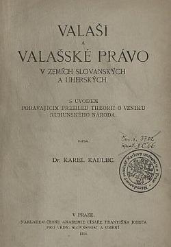 Valaši a valašské právo v zemích slovanských a uherských obálka knihy