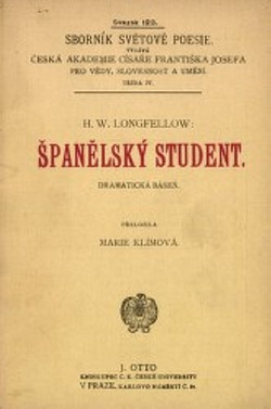 Španělský student: dramatická báseň obálka knihy