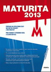 Maturita 2013 -M obálka knihy