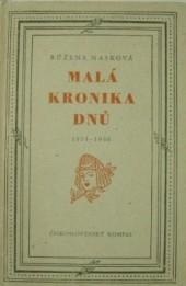 Malá kronika dnů 1934–1946 obálka knihy