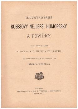 Illustrované Rubešovy nejlepší humoresky a povídky obálka knihy