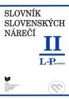 Slovník slovenských nárečí II (L - P)