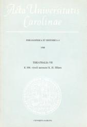 Theatralia VII.: K 100. výročí narození K.H. Hilara