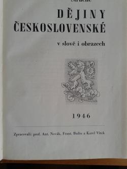 Stručné dějiny české slovem a obrazem obálka knihy