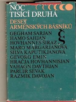 Noc tisící druhá - deset arménských básníků obálka knihy
