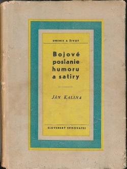 Bojové poslanie humoru a satiry obálka knihy