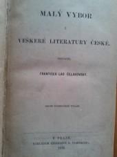 Malý výbor veškeré literatury české
