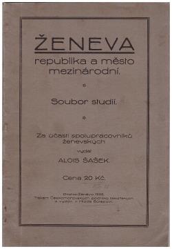 Ženeva republika a město mezinárodní obálka knihy