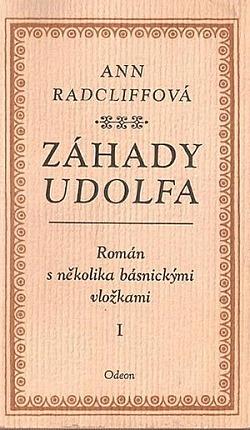 Záhady Udolfa I obálka knihy
