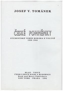 České pomněnky obálka knihy