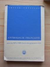 Anthologie française pour les Vlle et VIIle classes des gymnases réals