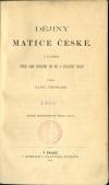 Dějiny Matice české