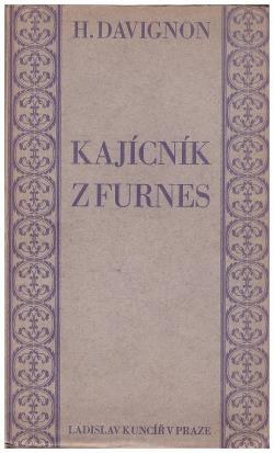 Kajícník z Furnes obálka knihy