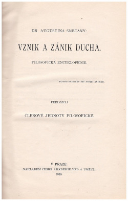 Vznik a zánik ducha obálka knihy