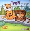 Tygři v zoo Pískací knížka