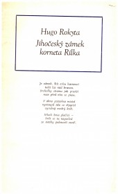 Jihočeský zámek korneta Rilka